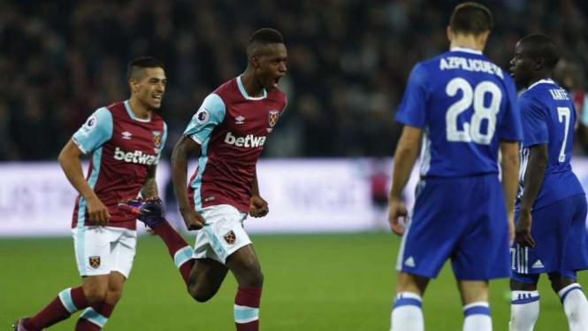 Ilustrasi pertandingan West Ham vs Chelsea