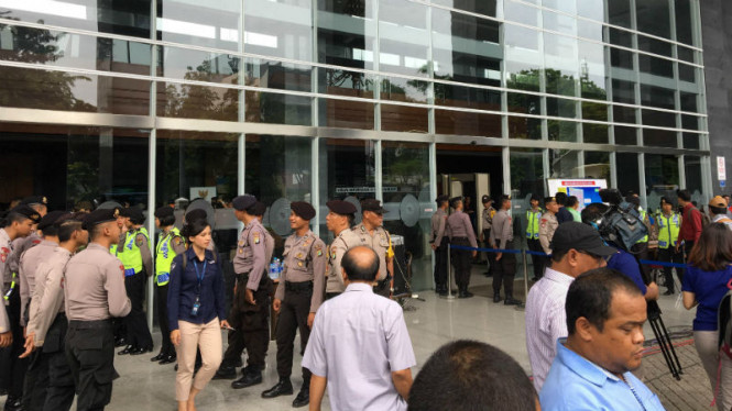 Situasi pengamanan di PN Jakarta Pusat jelang vonis Jessica Kumala Wongso