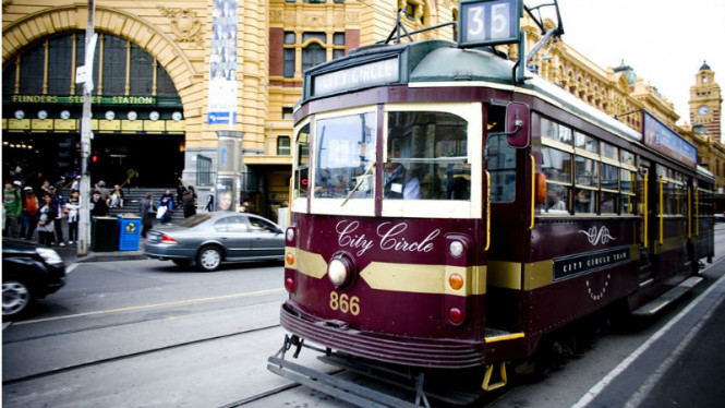 Kota Melbourne, Australia.