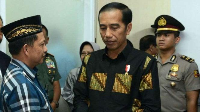 Presiden Jokowi dan Kapolri Jenderal Tito Karnavian.