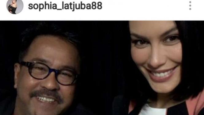 Sophia Latjuba mengunggah fotonya bersama Rano Karno dalam akun Instagram-nya, sophia_latjuba88, pada Rabu, 26 Oktober 2016.