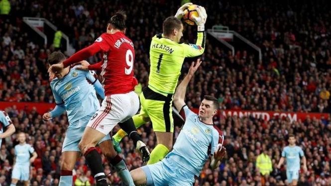 Pertandingan Manchester United melawan Burnley di Old Trafford