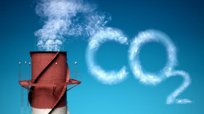 Ilustrasi karbon dioksida.