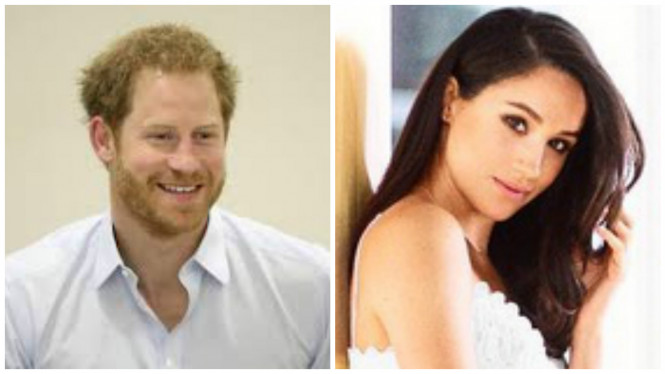 Pangeran Harry dan sang kekasih, Meghan Markle.