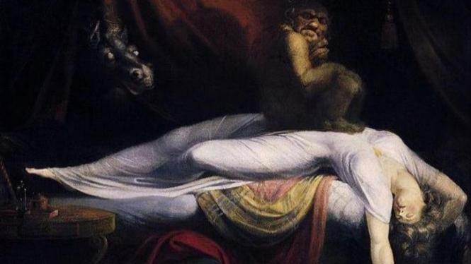Ilustrasi ketindihan atau sleep paralysis.