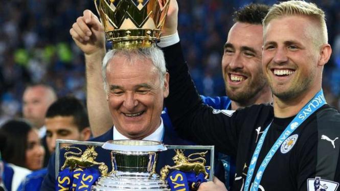 Mantan manajer Leicester City saat juara Premier League 2015/16.
