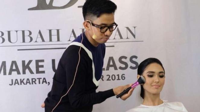 Make-up artist Bubah Alfian