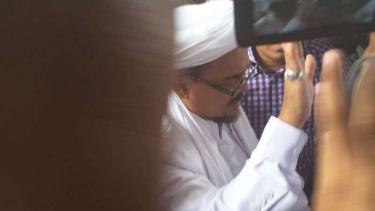 Habib Rizieq Shihab saat ke Markas Bareskrim Polri beberapa waktu silam.