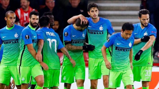 Pemain Inter Milan saat tampil di Liga Europa