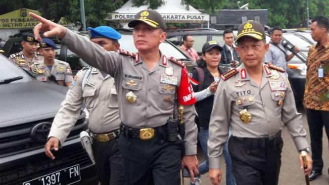 Kapolri Jenderal Tito Karnavian dan Kapolda Metro Jaya, Irjen M Iriawan.