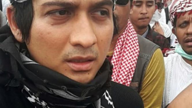 Lucky Hakim saat ikut demo 4 November 2016.