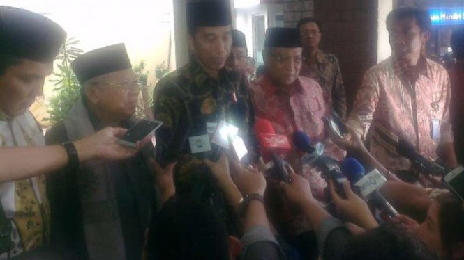 Jokowi sambangi kantor PBNU, Senin, 7 November 2016.
