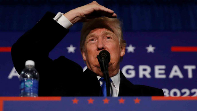 Presiden AS terpilih, Donald Trump. Skandal Trump dengan Rusia terus berhembus kuat.