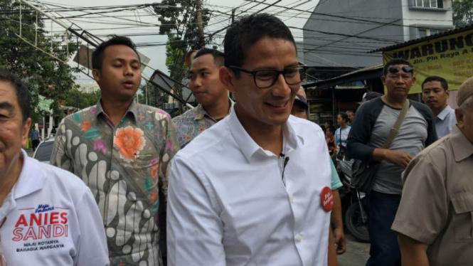 Calon Wakil Gubernur DKI Jakarta, Sandiaga Uno.