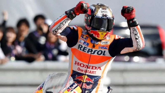 Pembalap Tim Repsol Honda, Marc Marquez.