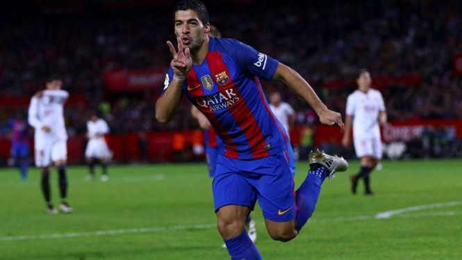 Penyerang Barcelona, Luis Suarez