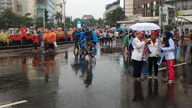 Aktivitas warga Jakarta di acara Car Free Day.