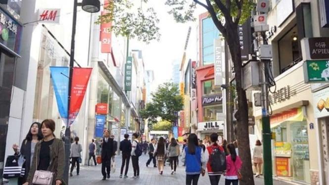 Myeongdong, Seoul, Korea Selatan