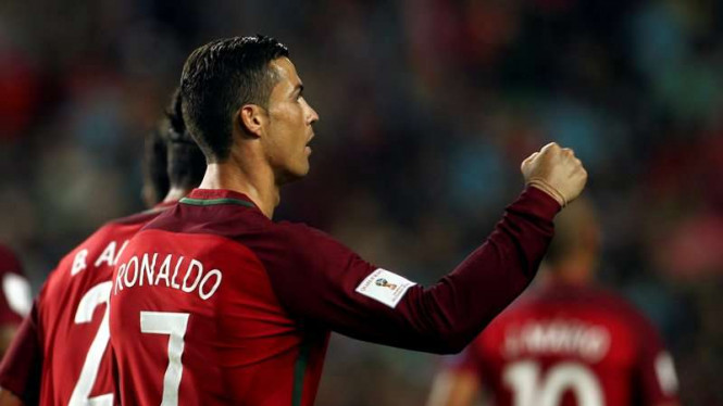 Pemain Timnas Portugal, Cristiano Ronaldo.