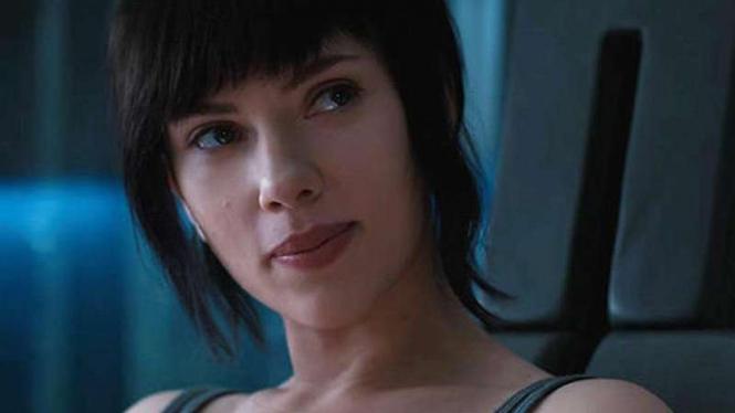 Scarlett Johansson di Ghost in the Shell