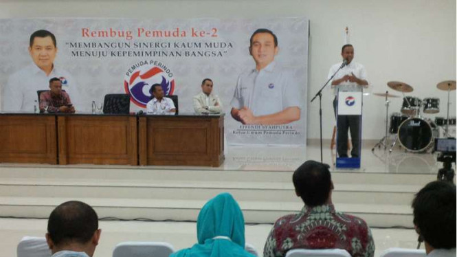 Aniews Baswedan jadi pembicara dalam rembug Pemuda Perindo.