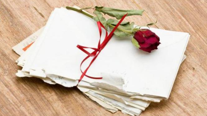 Ilustrasi surat cinta.