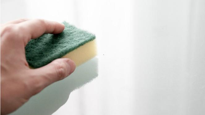Ilustrasi spons cuci piring.