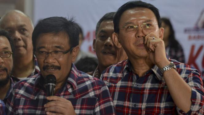 Basuki Tjahaja Purnama alias Ahok dan Djarot Saiful Hidayat.