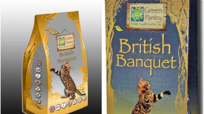 Makanan kucing British Banquet.