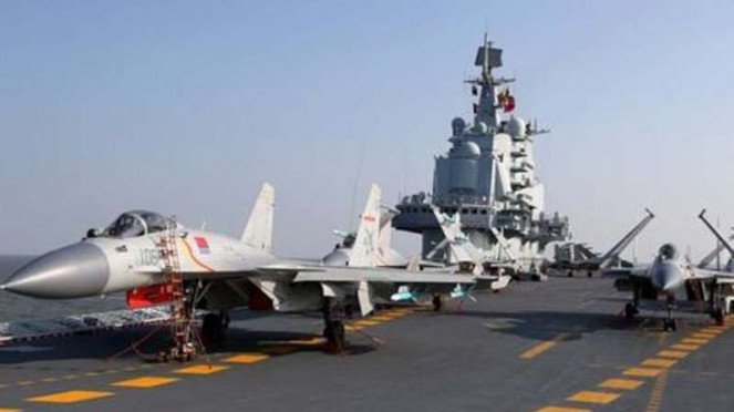 Salah satu armada jet tempur J-20 China.