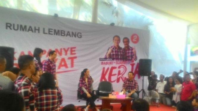 Artis Luna Maya hadiri kampanye Ahok di Rumah Lembang, Jakarta