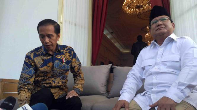 Pertemuan Presiden Joko Widodo dan Prabowo Subianto di Istana Negara, Kamis 17 November 2016.