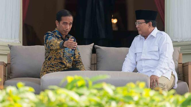Presiden Joko Widodo dan Prabowo Subianto.