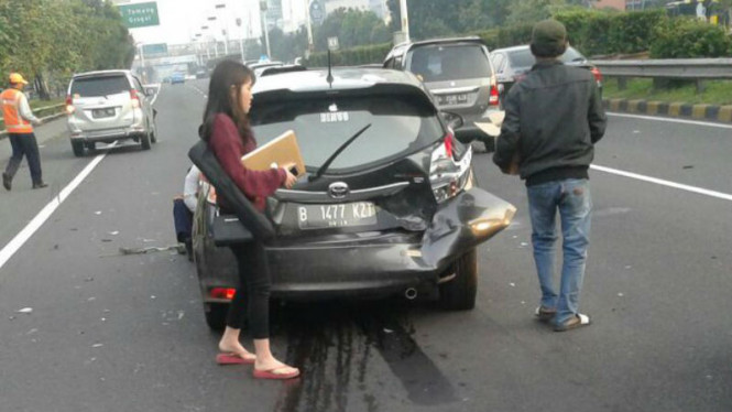 Kecelakaan di Ruas tol Dalam Kota