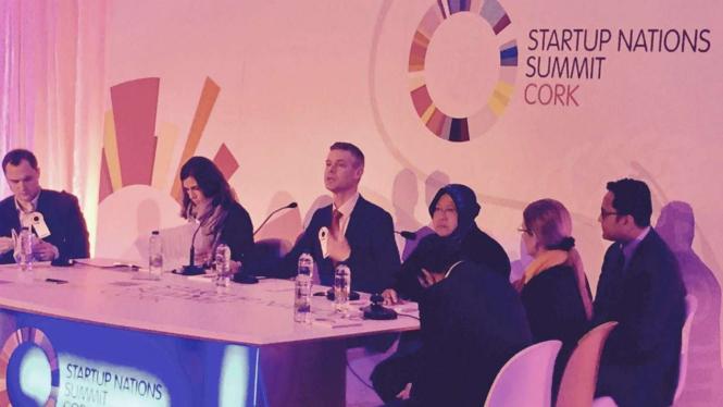 Tri Rismaharini dalam startup nations summit, Cork, Irlandia