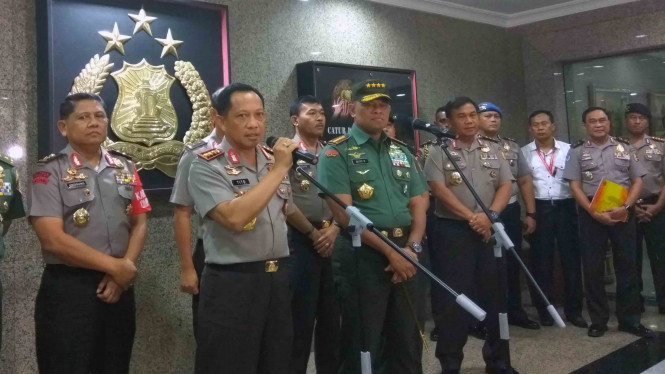 Kapolri Jenderal Polisi Tito Karnavian dan Panglima TNI Jenderal Gatot Nurmantyo.