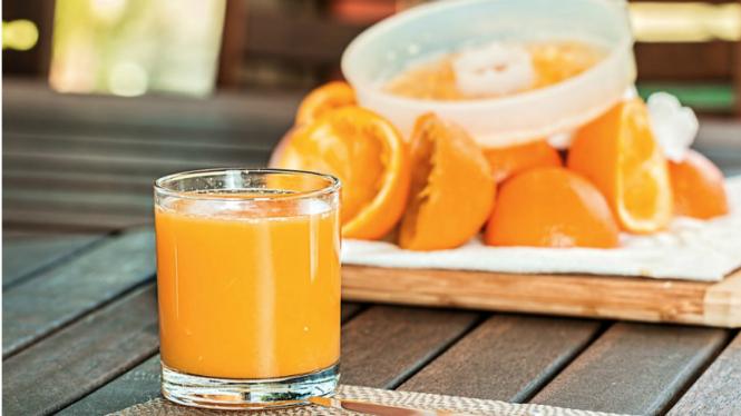 Ilustrasi jus jeruk