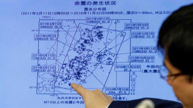 Peta bencana Jepang.