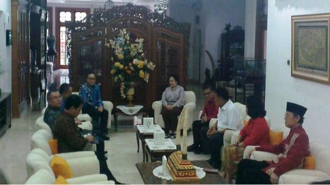 Pertemuan Ketua Umum PAN Zulkifli Hasan dan Ketua Umum PDIP Megawati Soekarnoputri, Selasa, 22 November 2016