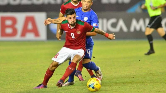 Pemain Timnas Indonesia, Stefano Lilipaly, di Piala AFF 2016