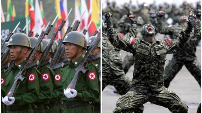 Militer Myanmar vs Indonesia.