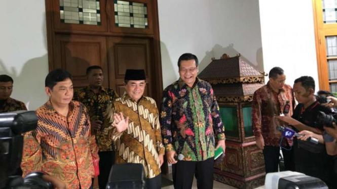 Ketua DPR Ade Komarudin mendatangi kediaman Ketum PDIP Megawati Sukarnoputri