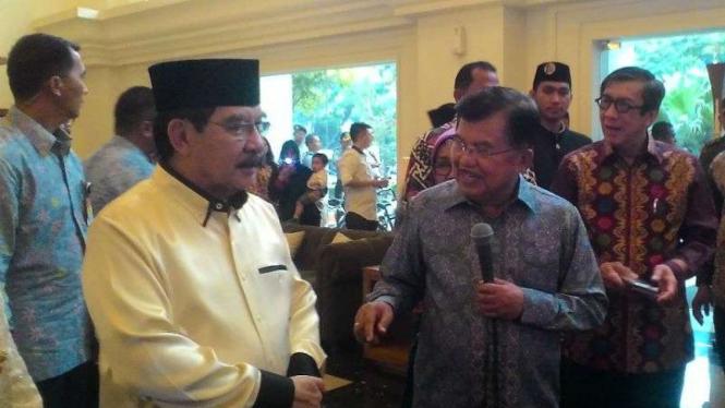 Antasari Azhar, Wakil Presiden Jusuf Kalla dan Menkumham Yasonna Laoly.