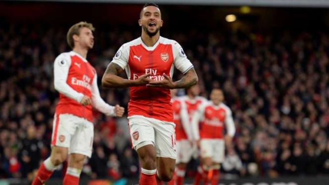 Pemain depan Arsenal, Theo Walcott