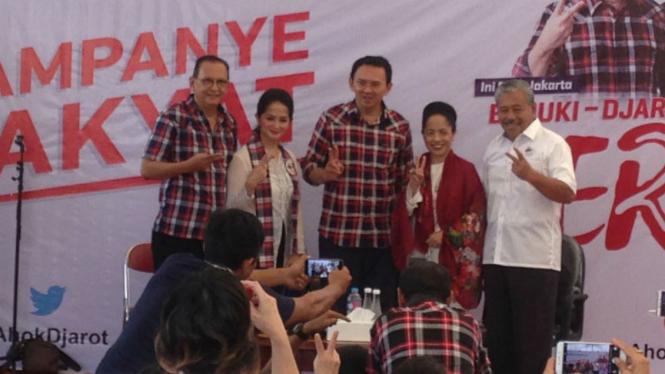 Aktor Roy Marten dukung Ahok di Pilkada DKI Jakarta 2017.