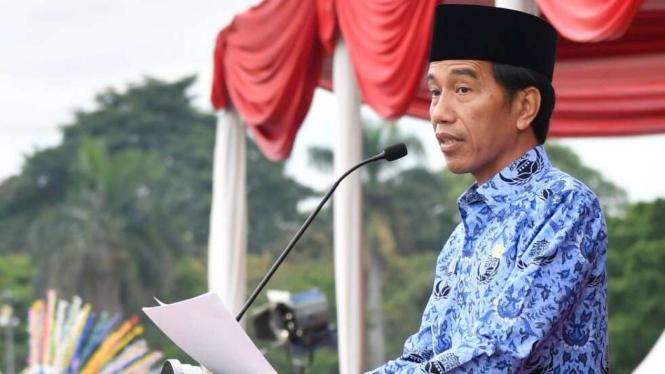 Presiden Joko Widodo di hari korpri