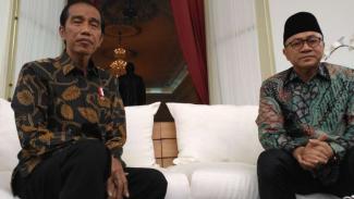 Presiden Jokowi dan Ketua Umum PAN Zulkifli Hasan.
