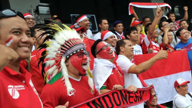 Suporter Indonesia di Piala AFF 2016