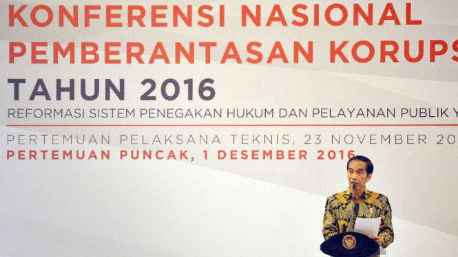 Presiden Joko Widodo saat buka KNPK 2016