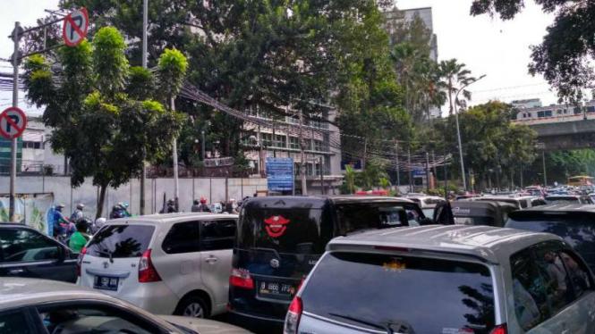 Kemacetan di Kebon Sirih terkait aksi 212, Jakarta